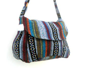 Crossbody Bag Hippie Bag Messenger Shoulder Bag Purse Handbag boho Hobo Bag  Gift Thai Bag Handmade Everyday Bag Gift Bag Multicolor Bag 28914f328f