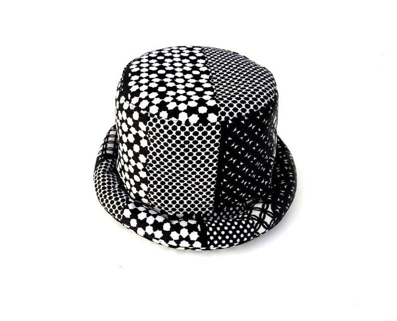 Bohemian Hat Festival Rolled Brim Hat Hippie Hat Hobo Hat Vegan Bucket Hat Gypsy Hat Artisan Bucket Hat Festival Hat Hipster hat