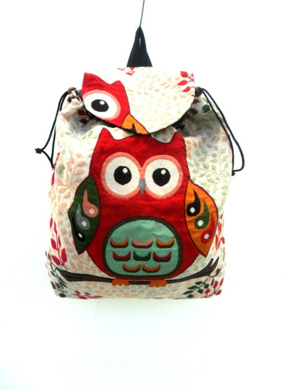 b021e1d6be7 Owl Backpack Bag Shoulder Bag Multicolor Crossbody Bag Messenger Bag Hippie  Boho Hobo Art Bag Purse Bohemian Bag Handmade Sling bag Gift