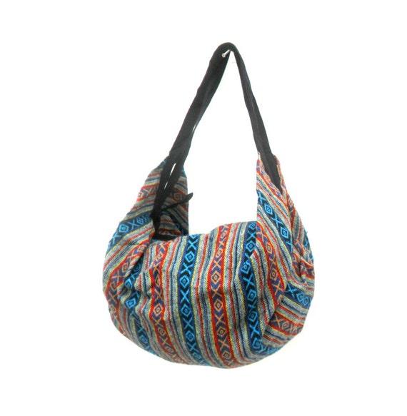 123b8f0fcaf Shoulder Bag Backpack Bag Crossbody Bag Multicolor Hippie   Etsy