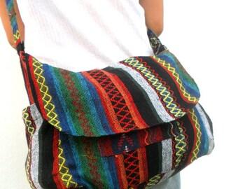 Crossbody Bag Hippie Bag Messenger Shoulder Bag Purse Handbag boho Hobo Bag Gift Thai Bag Handmade Everyday Bag Gift Bag Multicolor Bag