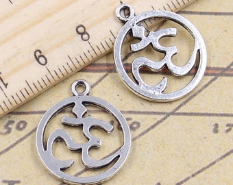 20pcs Female symbol charms pendant 22mm Antique bronze ornament accessories jewelry making DIY handmade craft base material