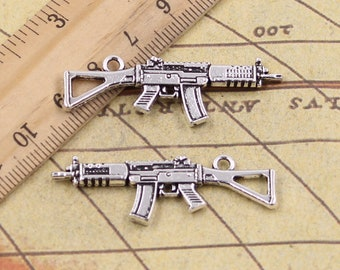 Submachine gun charm | Etsy