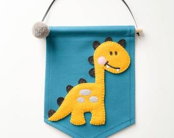 Mustard Dino banner
