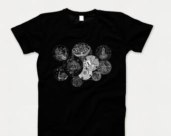 graphic tee |  Mad Hatter | cheshire cat | Alice | tea party | inspired by alice in wonderland | t-shirt | mens and womens sizes |