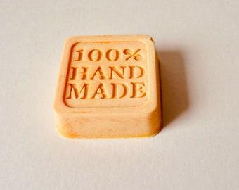 Orange scented wax melt block, 100% handmade