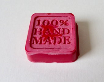 Strawberry scented wax melt block, 100% handmade,