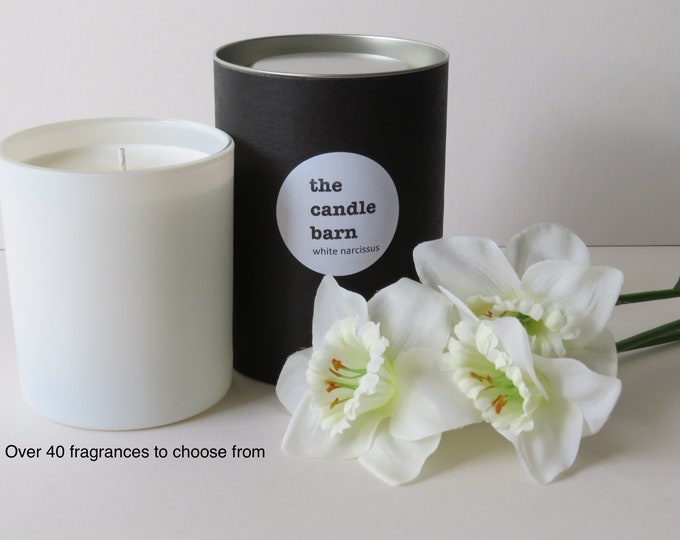 Large soy wax scented candle with a tube gift box
