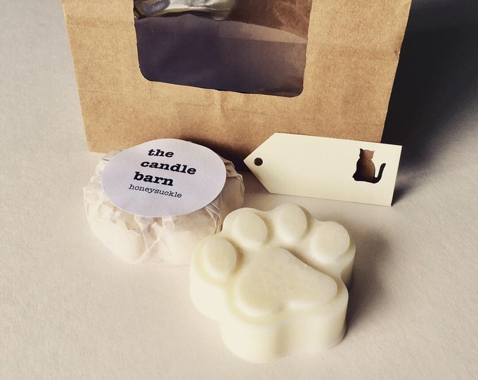 Paw Print Scented Wax Melt Gift Bag