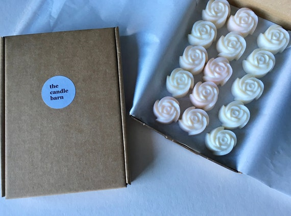 Rose shaped scented wax melts