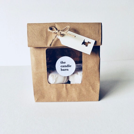 6 Dog Paw Print scented wax melts, in a gift bag