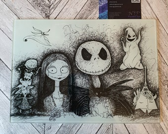 Nightmare Before Christmas glass chopping board cutting board worktop saver countertop protector
