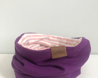 Twin Scarf - BosysenBerry and Mellow Rose Stripes Neck Warmer - Kids Scarf