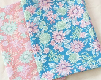 Floral Fabric,Pink Flower Cotton Fabric, Beautiful flower, nature, colorful 100% Cotton Fabric Fat Quarter, half yard, yard.