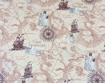 World map fabric etsy studio map fabric by the yard world map fabric vintage map print fabric grey fabric by the yard quilting fabric 100 cotton fabric gumiabroncs Gallery