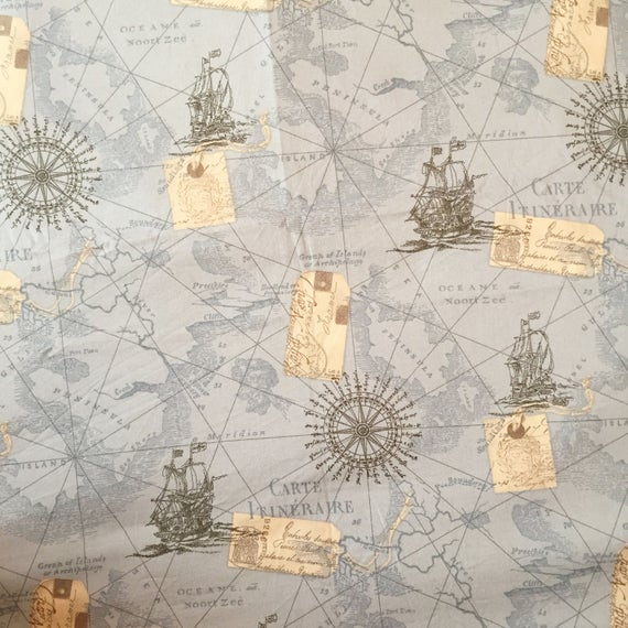Map fabric by the yard world map fabric vintage map print etsy image 0 gumiabroncs Gallery