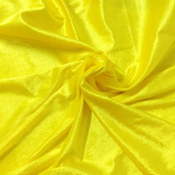 77f6fff8d576 YELLOW VELVET FABRIC By The Yard Violet fabric 60 inch