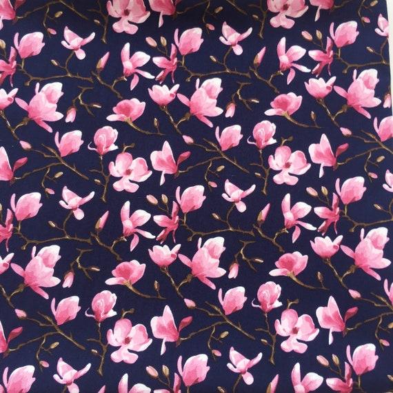 half yard or a full yard Flowers or Leaf prints 100/% Cotton Fabric sold by quarter