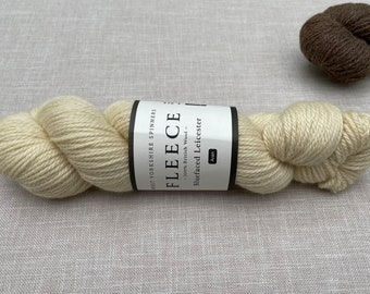 Bluefaced Leicester - British Wool - West Yorkshire Spinners - undyed yarn - knitting wool - Colour: Ecru #001 - 100g Aran weight