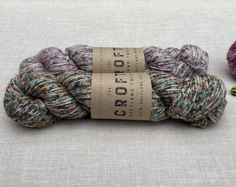 The Croft Shetland Tweed - West Yorkshire Spinners - Colour: Stonybreck #759 - 100g Aran weight - 100% Shetland Island wool - knitting wool