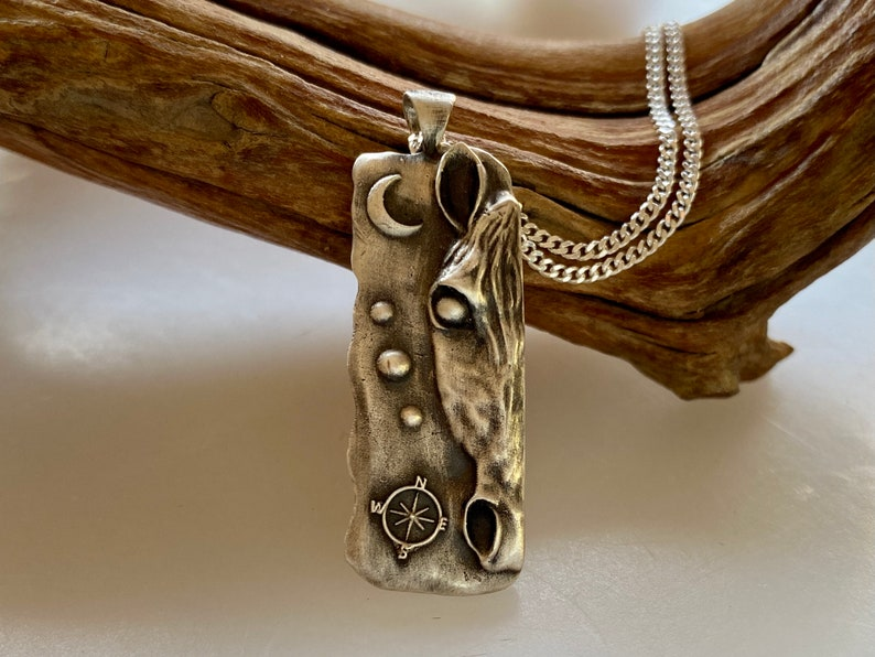 North Star Horse pendant necklace for horse lovers solid image 1