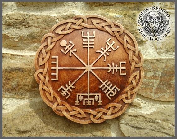 Vegvisir Viking Symbol Walknut Home Decor Art Norse Thor Odin