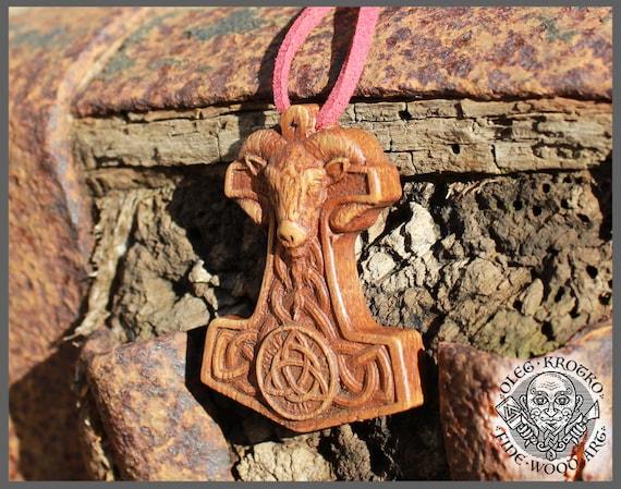 Thor Hammer Norse Pendant Vikings Odin Art Wood Pagan Carving Heathen Asatru Celtic Norse Rune Wall Hanging Ragnar Wood Carving Knotwork