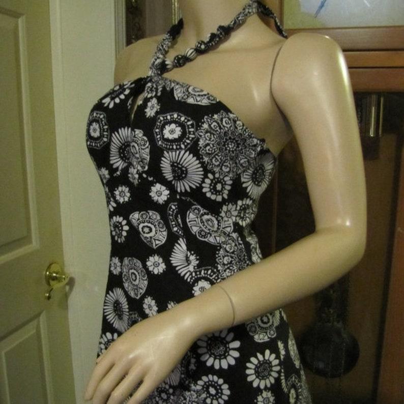 Bethany Dress Black /& White Halter Dress size 6