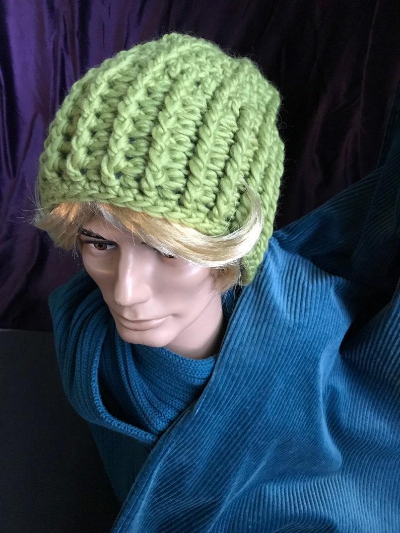 Pure wool cottonfleece lined men/'s hat