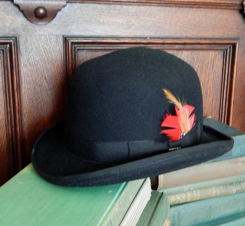 fc212f6418ae2 Vintage Scala derby hat 100% wool Handmade crafted black felt