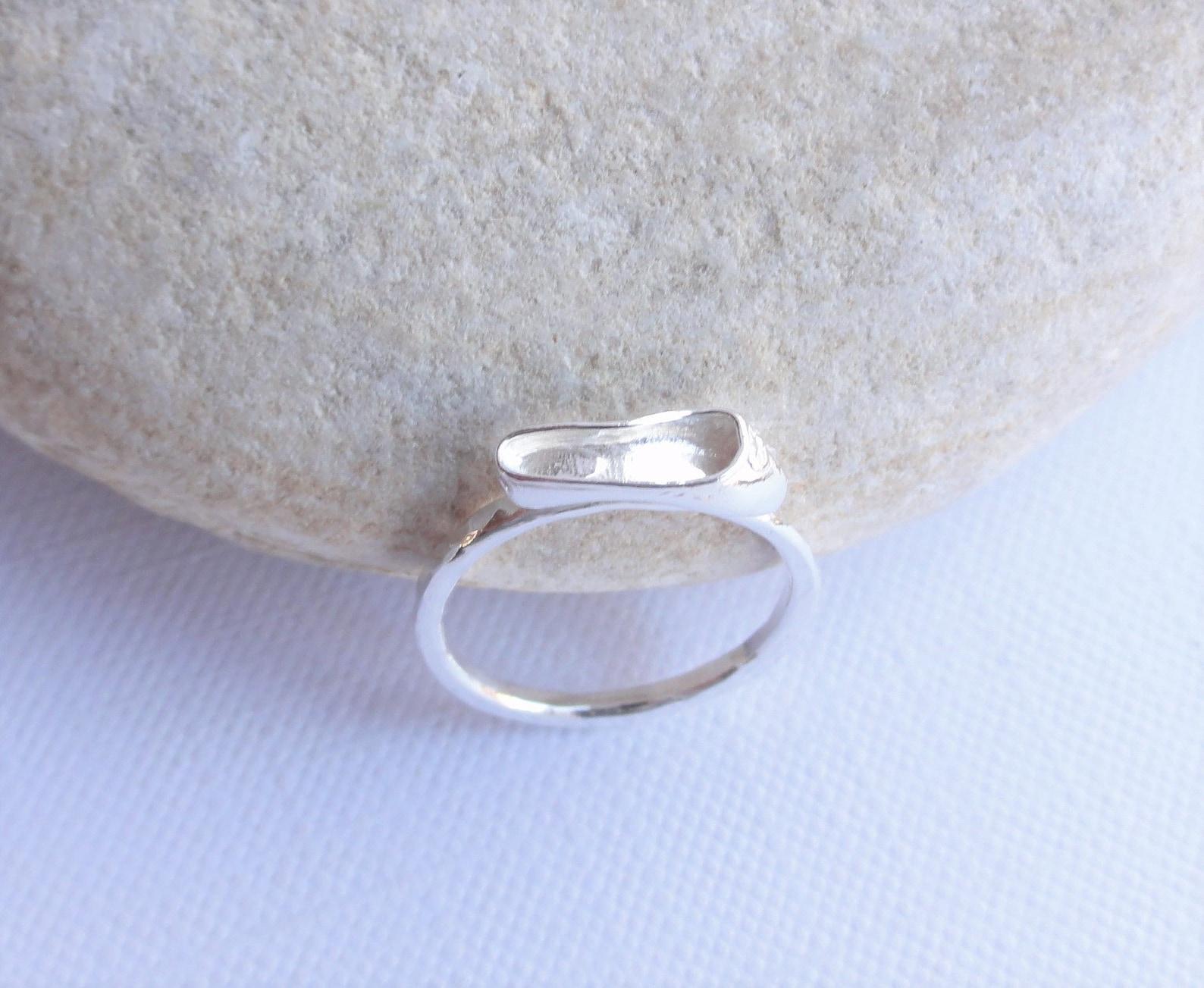 ballet shoe sterling silver ring ~ ballerina ~handmade hammered stacking ring ~ ballet slipper ~ dancer gift ~ ballet ring ~ dan