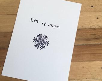 Handmade christmas card 'Let it Snow'