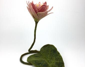 Pink Lotus Flower, Spiritual Symbolic Flower, Chakra Meditation Aid, Sacred Flower, Buddha's Favorite, Purity, Mindful & Sustainable Made