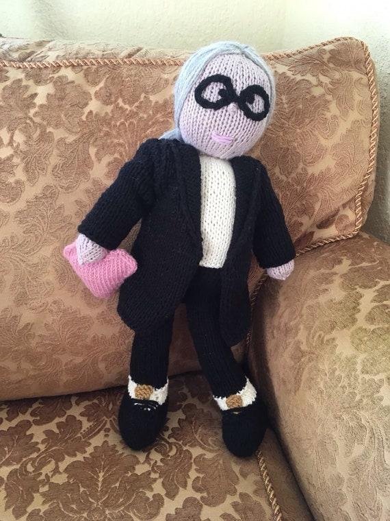 Jouet grand-mère tricoté à la main le jouet préféré cadeau Adorable jouets tricotés