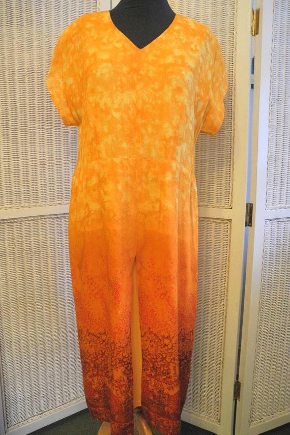 """Gorgeous """"Watercolor"""" Dress Vintage 1980s 1990s Gé"""