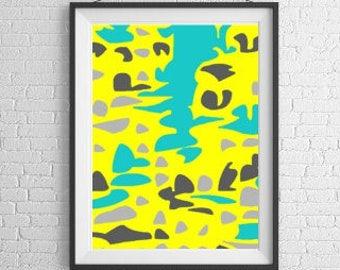 Abstract downloadable, home decor art, daycare gift, yoga studio art, nursery print, vibrant painting, abstract pdf, abstract nursery art