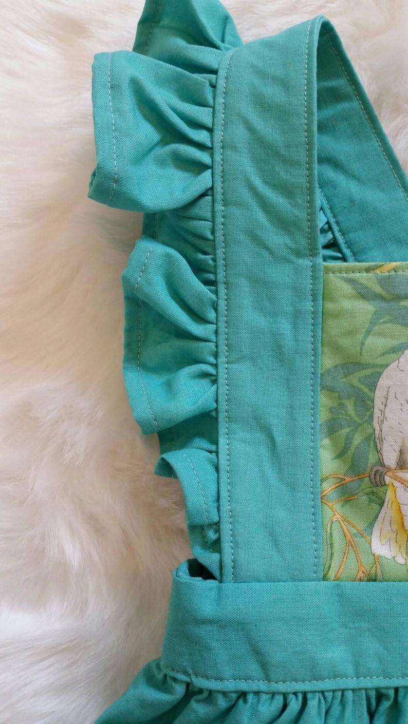 girls pinafore cockies children/'s clothing Australiana Australian handmade Cockatoos pinny ~ size 1