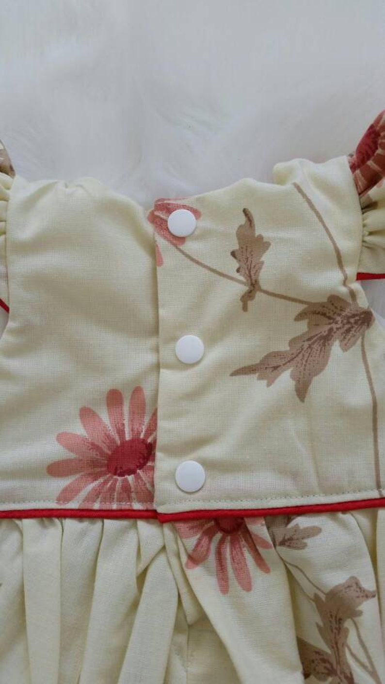 cotton Australian handmade floral baby/'s clothing vintage Baby playsuit size 0 upcycled