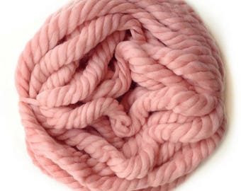 Chunky wool giant yarn Giant merino wool yarn Arm knitting yarn Super big yarn wool jumbo size Chunky blanket wool Pink col.5520