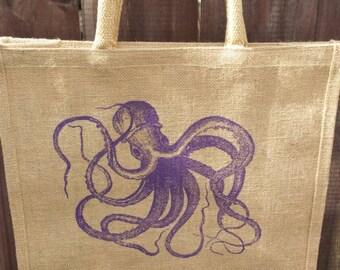 Octopus Jute market bag
