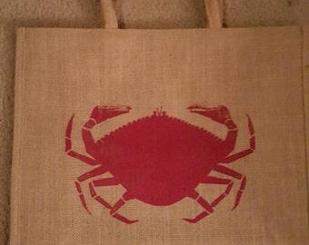 Crab Jute Market Tote