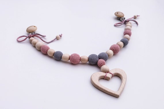 Stroller chain Heart Pram chain