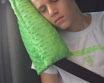Seatbelt Pillow-Travel Pillow-Carseat Pillow-Neck Pillow-Child Seatbelt Pillow-Adult Seatbelt Pillow-Minky Pillow-CHOOSE  YOUR COLOR!