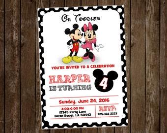 Minnie/Mickey birthday invite