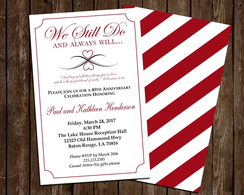 Anniversary Celebration Invite