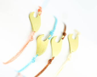 Brass Wave Friendship Bracelet, Waxed Polyester, Friendship Bracelet, Layering Bracelets, Stacking Bracelets, Stackable Bracelets