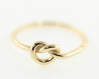 Knot Ring, Sterling Silver, Vermeil, Love Knot, Nautical Knot