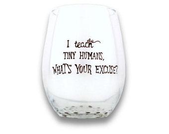 Teacher Wine Glasses, Funny, Wine Glasses, Custom