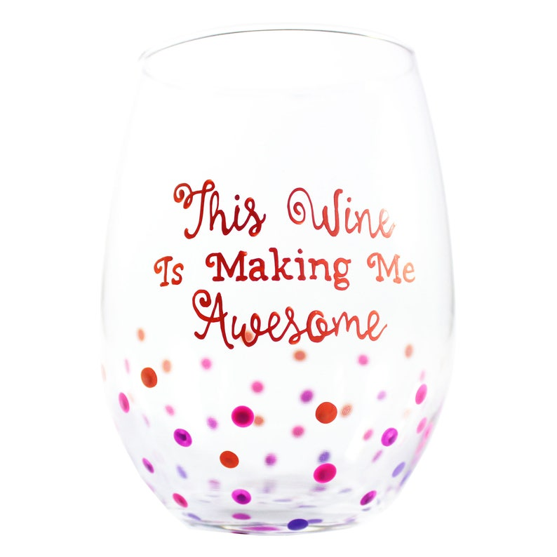 Funny Wine Glasses With Sayings A Cute Birthday Gift For Etsy