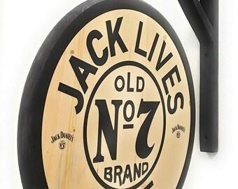 NEW OLD STOCK  JACK DANIELS /'I KNOW JACK/' PIN; HAS  OLDER SPOKE WHEEL LOGO